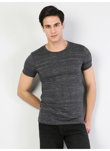 Colin's Desenli T-Shirt Antrasit